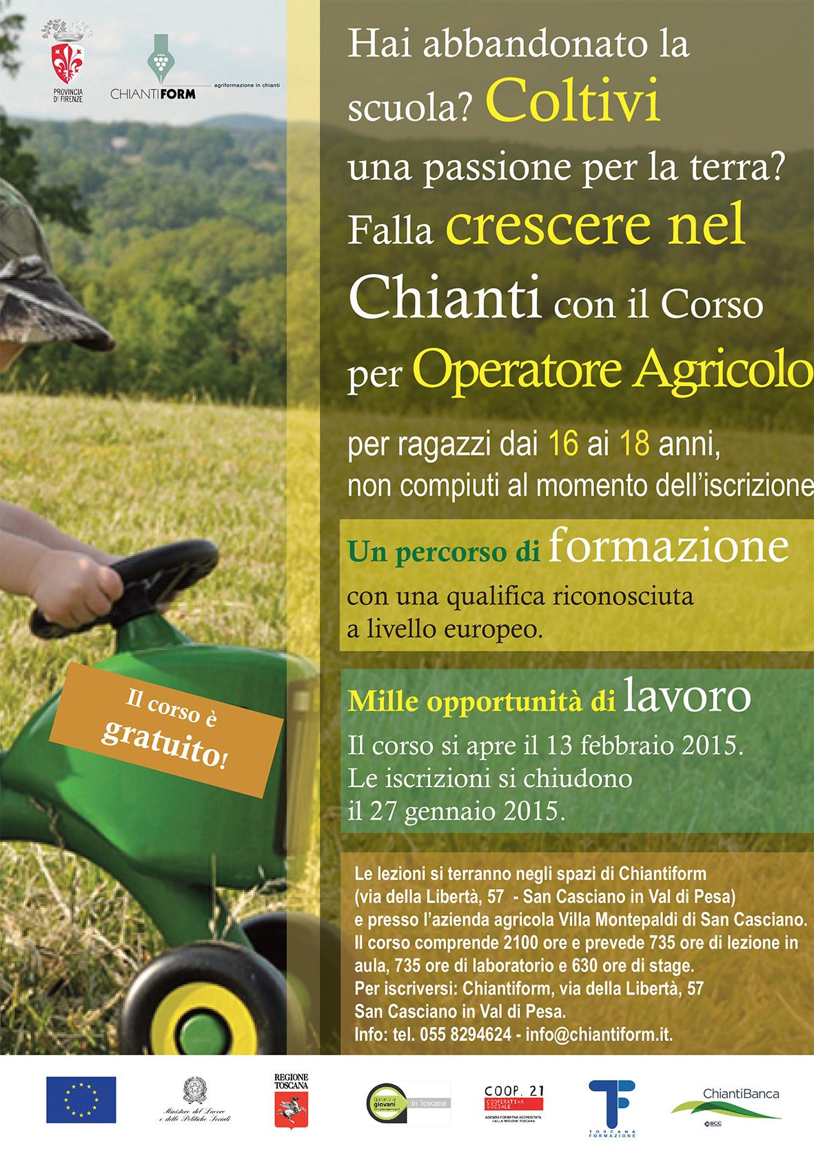 Corsi drop out - Firenze, Chianti, Mugello - Toscana Formazione